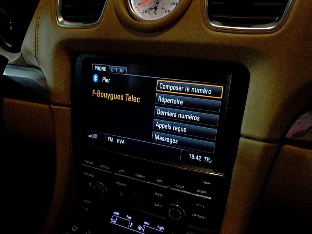 Interface téléphone mains-libres Bluetooth Porsche 987 997