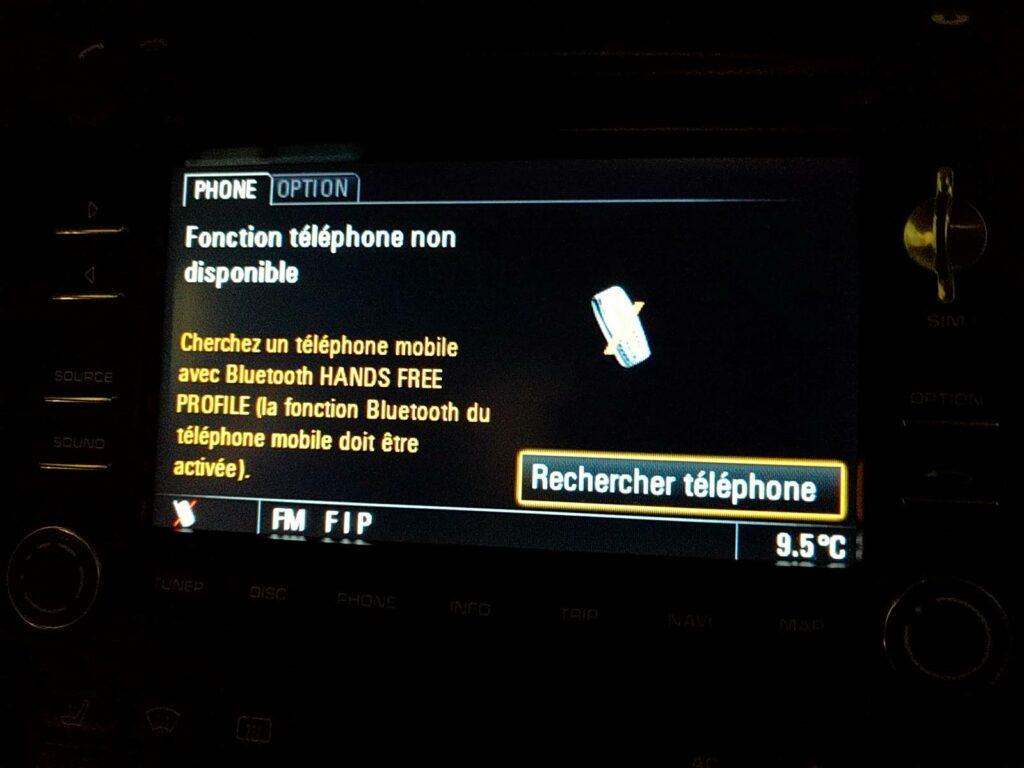 Interface téléphone options PCM3